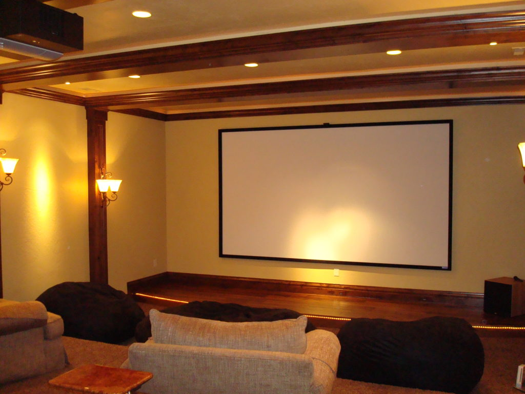 Home Theater with Lutron Lighting Control in Utah
